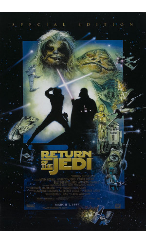 Poster Star Wars Geek Guerra Estrelas Episodio Retorno De Jedi Return
