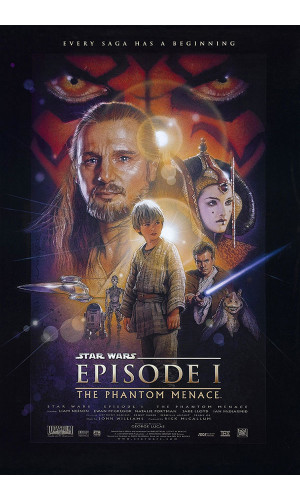 Poster Star Wars Geek Nerd Guerra Estrelas Episodio Ameaca Fantasma Phantom Menace