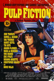 Poster Retrô Pulp Fiction - Tarantino